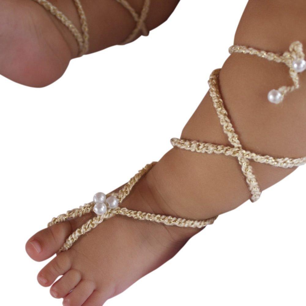 Sandalias Pie Descalzo Doradas de Gladiador