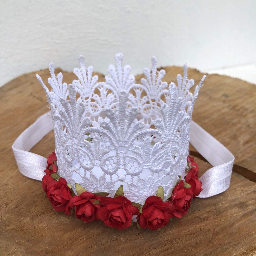 Vincha Corona Blanca de Cumpleaños