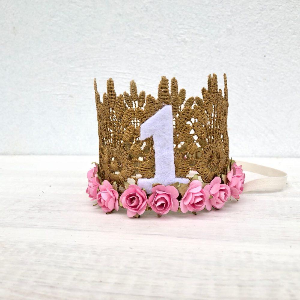 Vincha Corona Dorada de Cumpleaños