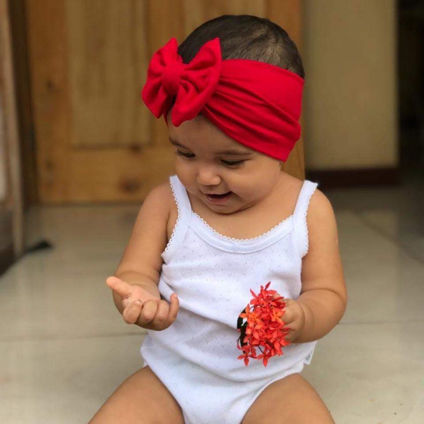 Vincha Roja Turbante con Lazo