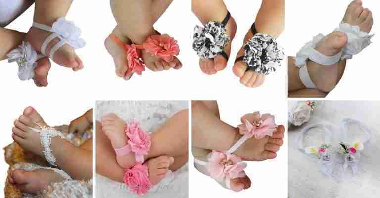 Sandalias Pie Descalzo Para Su Bebé