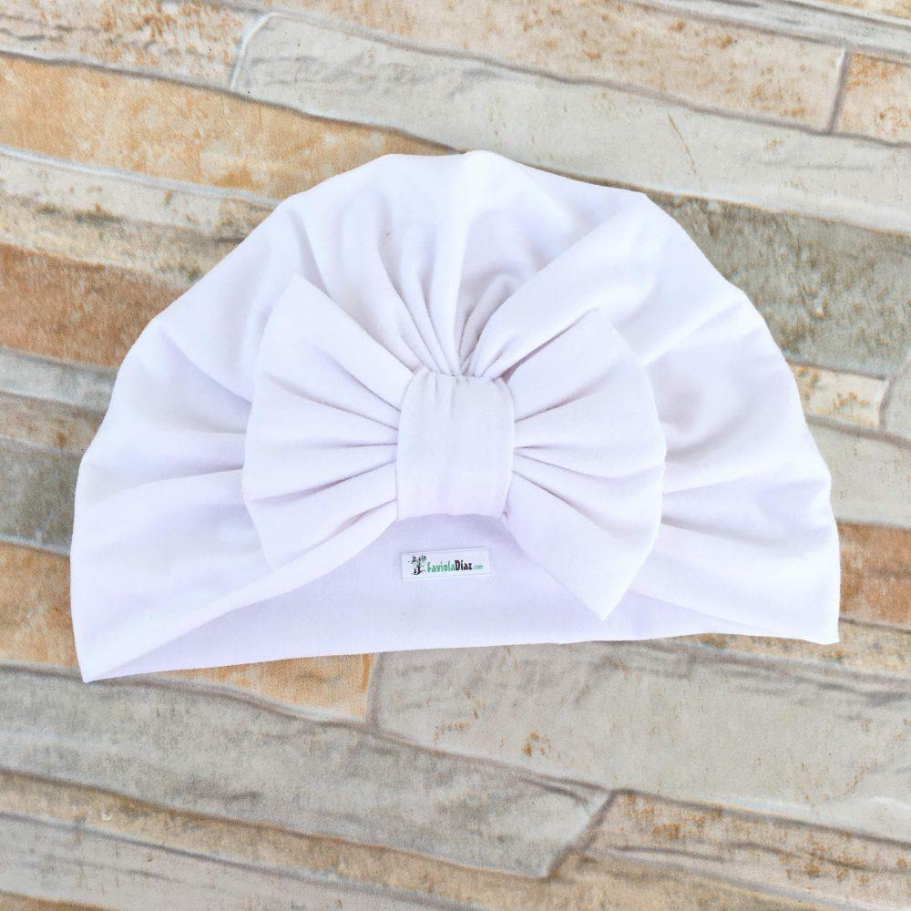 Turbante Blanco de Lazo