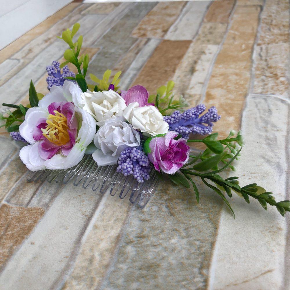 Peineta Tropical de Flores