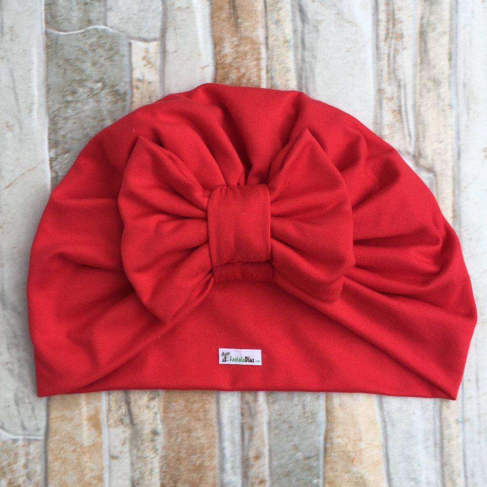 Turbante Roja de Lazo