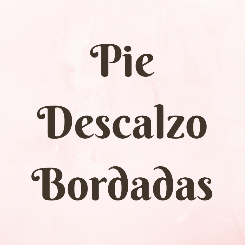 Sandalias Pie Descalzo Bordadas