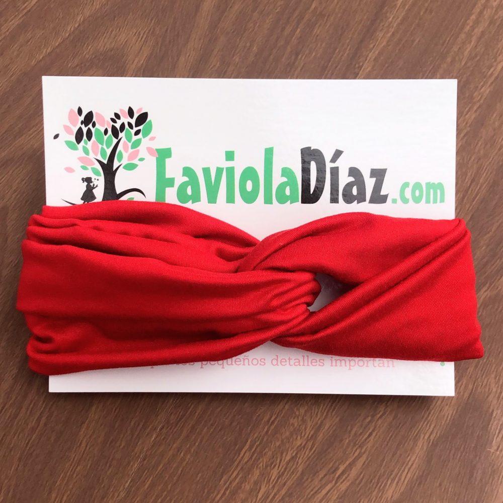 Vincha Roja Turbante Regular