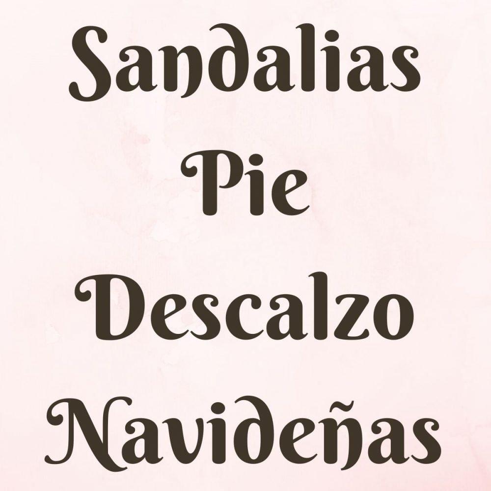 Sandalias Pie Descalzo Navideñas