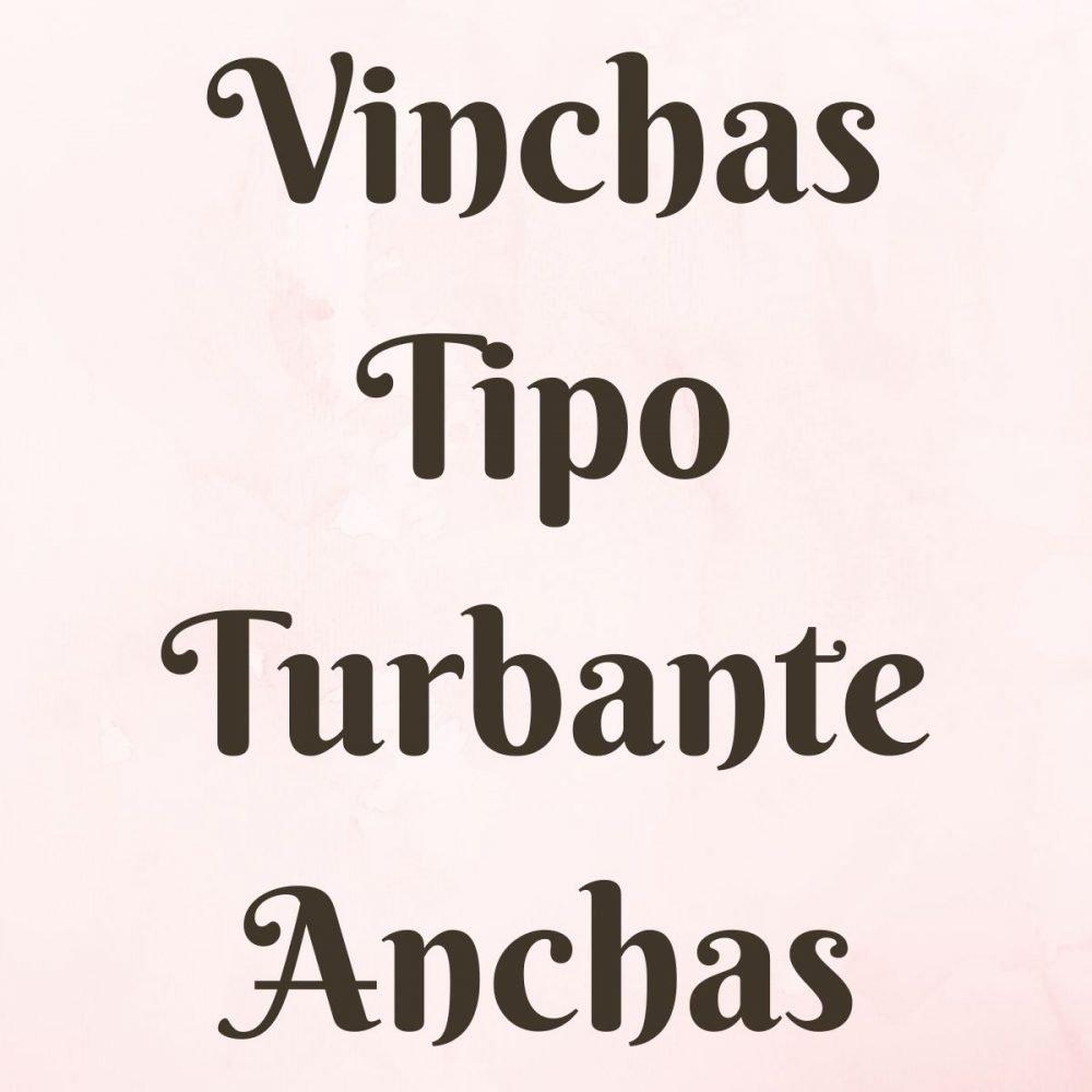 Vinchas Tipo Turbante Anchas