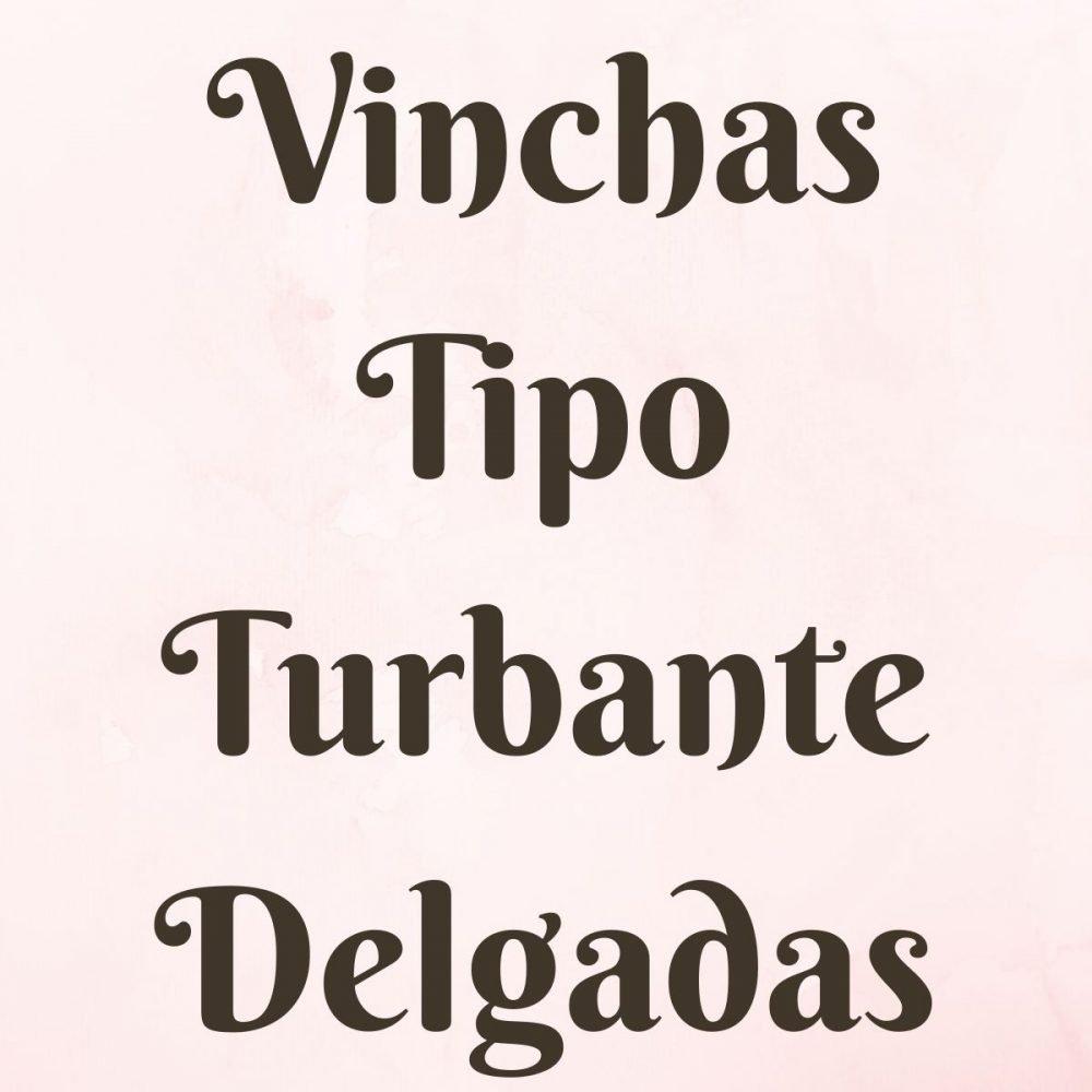 Vinchas Tipo Turbante Delgadas