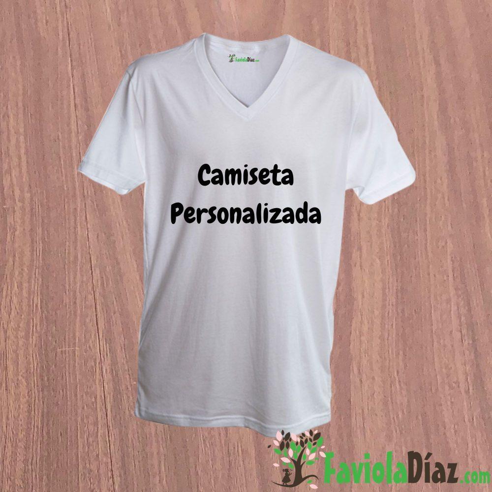 Camiseta Personalizada Cuello V