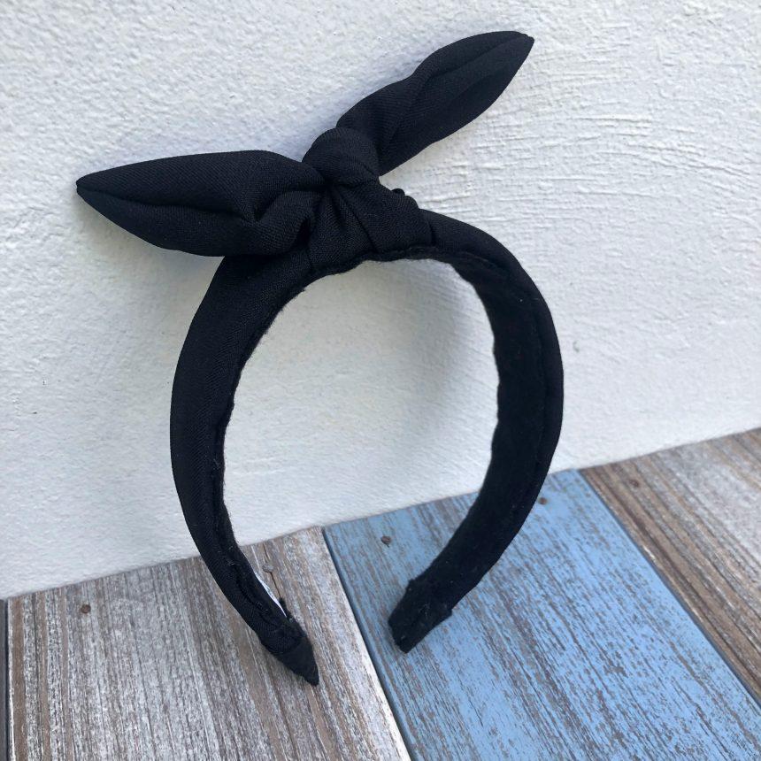 Diadema Negra con Nudo Lazo