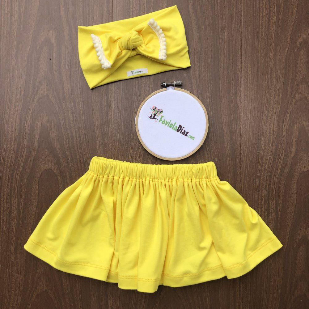 Set de Vincha y Falda Amarillos