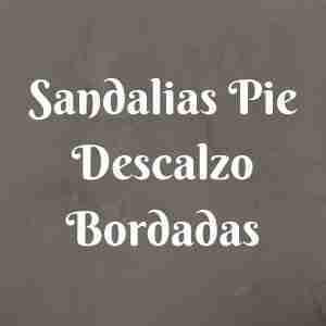 Sandalias Pie Descalzo Bordadas